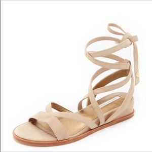 Cynthia Vincent Wrap Ankle Kitten Wedge Sandal 8.5